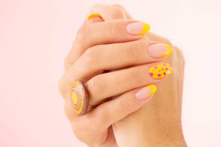 Dotted nail art designs. Nail Art Kit. A dotting tool is among the most widely used nail art tools. #nailartlover