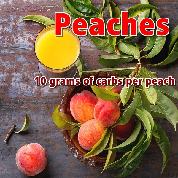 peaches can be a very versatile option for a low-carb diet